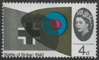 GB SG671p 1965 25th Anniversary of Battle of Britain 4d PHOSPHOR mounted mint